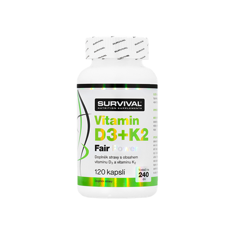 Survival Vitamin D3+K2 Fair Power 120 cps