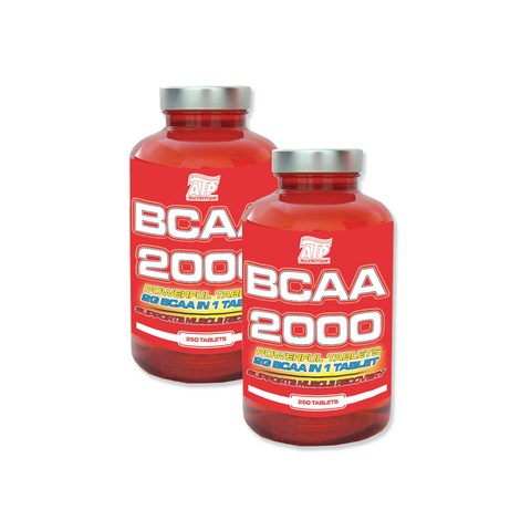 AKCE 1+1 ATP Nutrition BCAA 2000 Powerful 250 tbl + BCAA 2000 Powerful 250 tbl