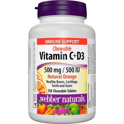 Webber naturals C+D3 500 mg/500 IU 200 tbl natural orange