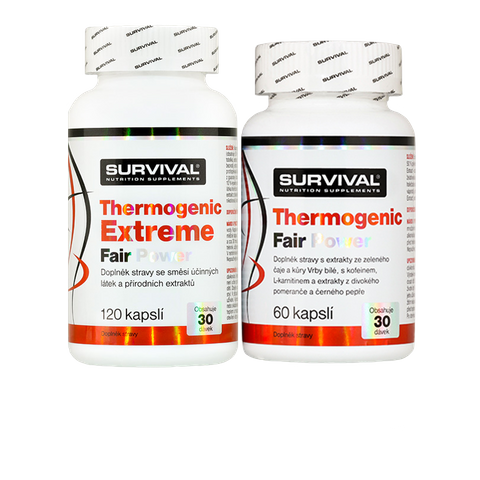Survival Thermogenic Extreme Fair Power 120 cps + Thermogenic Fair Power 60 cps zdarma